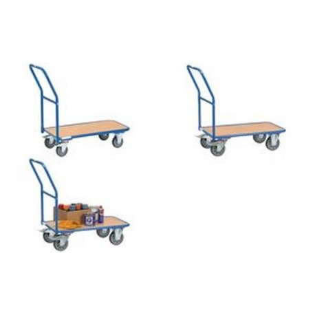fetra Chariot de magasin, charge: 400 kg, (L)850 x (l)500 mm