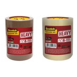 3M Scotch Ruban adhésif d'emballage HEAVY, 50 mm x 66 m
