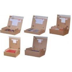 smartboxpro Carton d'expédition PACK BOX, format A5+, marron