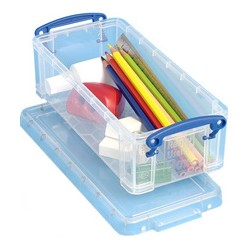 Really Useful Box Boîte de rangement 0,90 litre, incolore